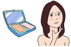 にきびと化粧